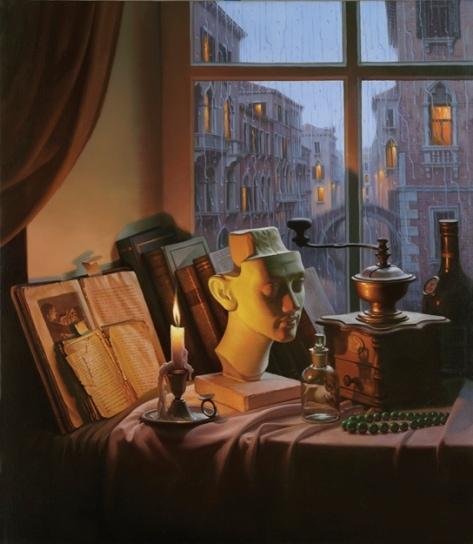 ALEXEI BUTIRSKIY ARTIST - Midnight Glow 30 x 26