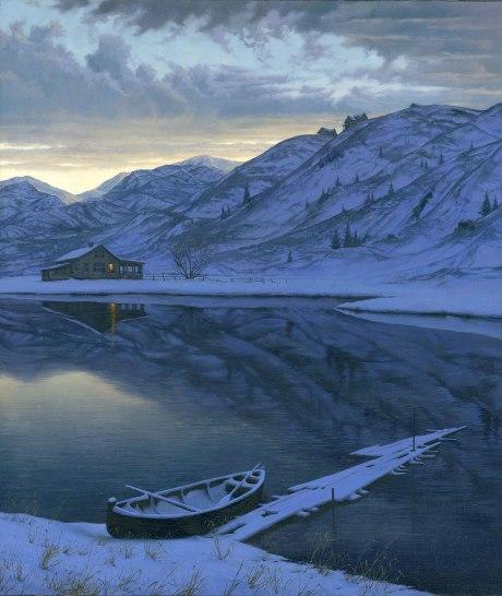 ALEXEI BUTIRSKIY ARTIST -Mountain Pond 33 x 28