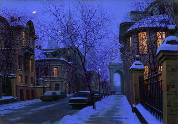 ALEXEI BUTIRSKIY ARTIST - Nightfall 20 x 28