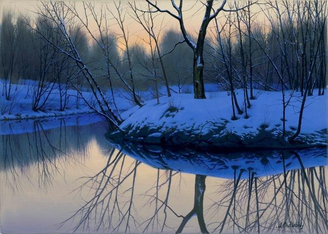ALEXEI BUTIRSKIY ARTIST - Placid Pond 28 x 40
