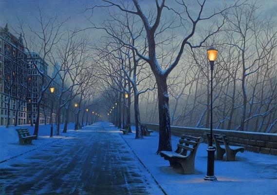 ALEXEI BUTIRSKIY ARTIST -Prelude to Spring 28 x 40