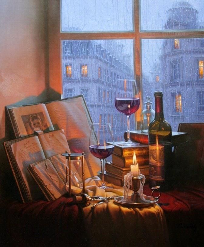 ALEXEI BUTIRSKIY ARTIST - Rainy Days and Mondays 34 x 27