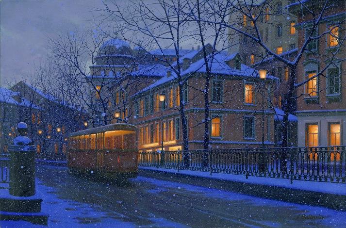 ALEXEI BUTIRSKIY ARTIST -Street of Dreams 24 x 36