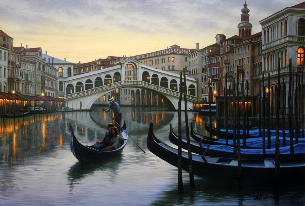 ALEXEI BUTIRSKIY ARTIST - Venetian Holiday 28 x 40