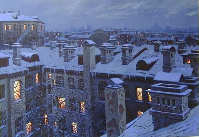 ALEXEI BUTIRSKIY ARTIST - Winter Silence 24 x 40