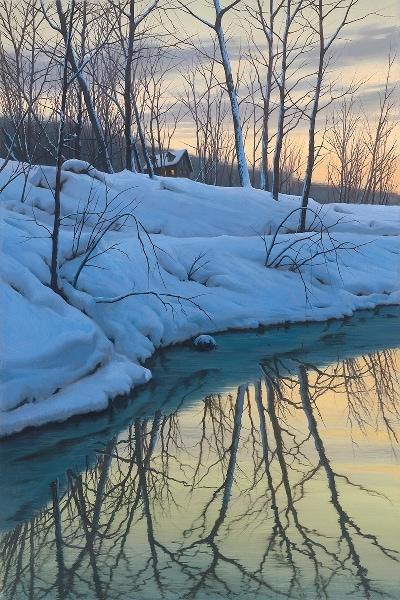 ALEXEI BUTIRSKIY ARTIST - Winter Stream 30 x 20