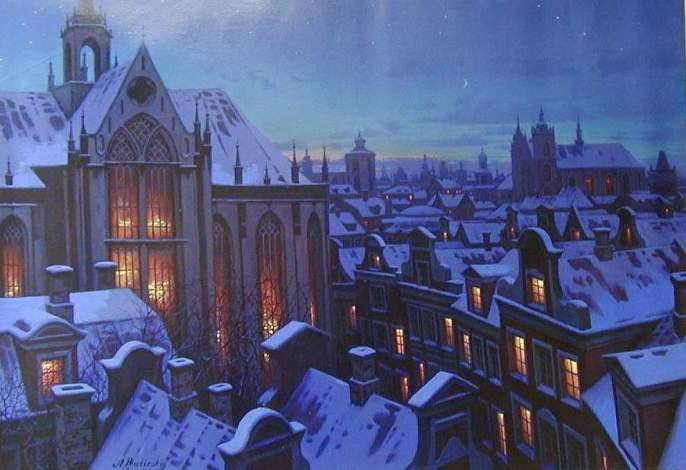 ALEXEI BUTIRSKIY ARTIST - Winter Wonderland 28 x 40