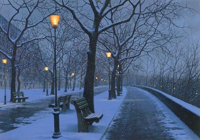 ALEXEI BUTIRSKIY ARTIST Winter at Riverside 28 x 40