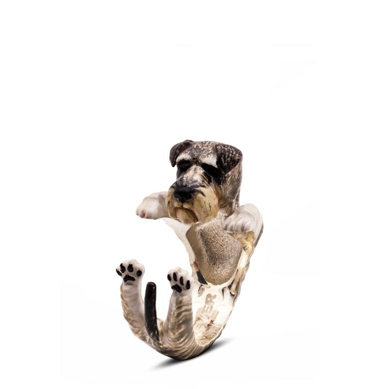 DOG-FEVER-ENAMELED-HUG-RING-schnauzer-enamelled-hug-ring