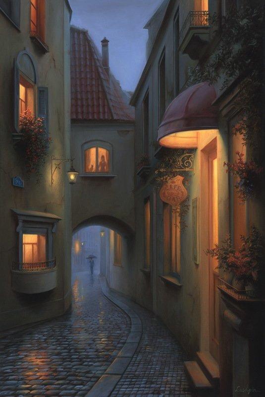 EVGENY LUSHPIN ARTIST - A Little Story 30 x 20
