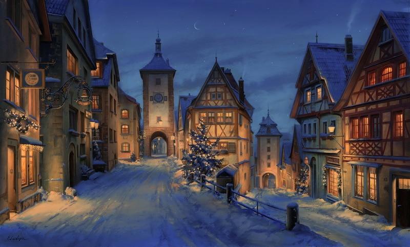 EVGENY LUSHPIN ARTIST - Christmas Eve 24 x 40