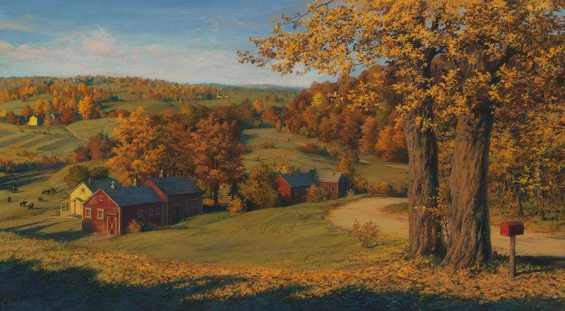 EVGENY LUSHPIN ARTIST - Farm Still Life 20 x 36