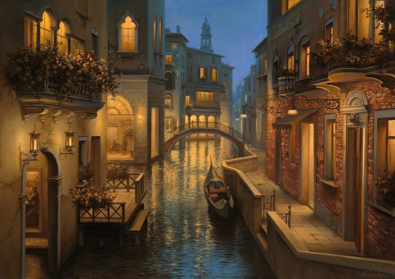 EVGENY LUSHPIN ARTIST - Golden Moment 24 x 34
