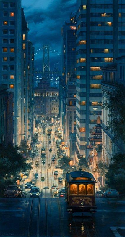 EVGENY LUSHPIN ARTIST - Light Canyon 42 x 22