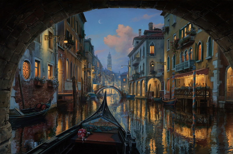 EVGENY LUSHPIN ARTIST - Love is in the air 25 x 38
