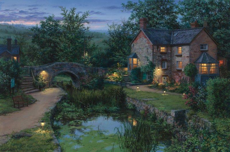 EVGENY LUSHPIN ARTIST - Old Pond 24 x 36
