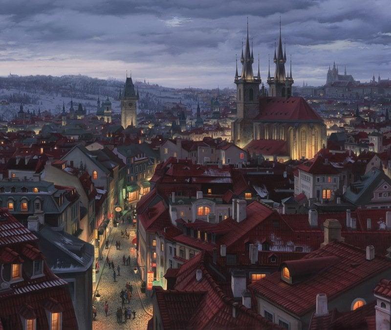 EVGENY LUSHPIN ARTIST -Prague Symphony 28 x 33