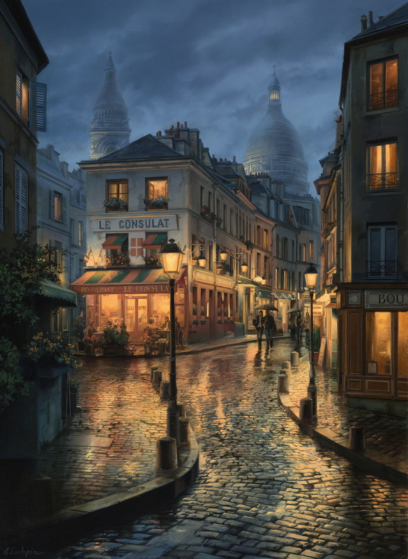 EVGENY LUSHPIN ARTIST - Remember How we met 36 x 26