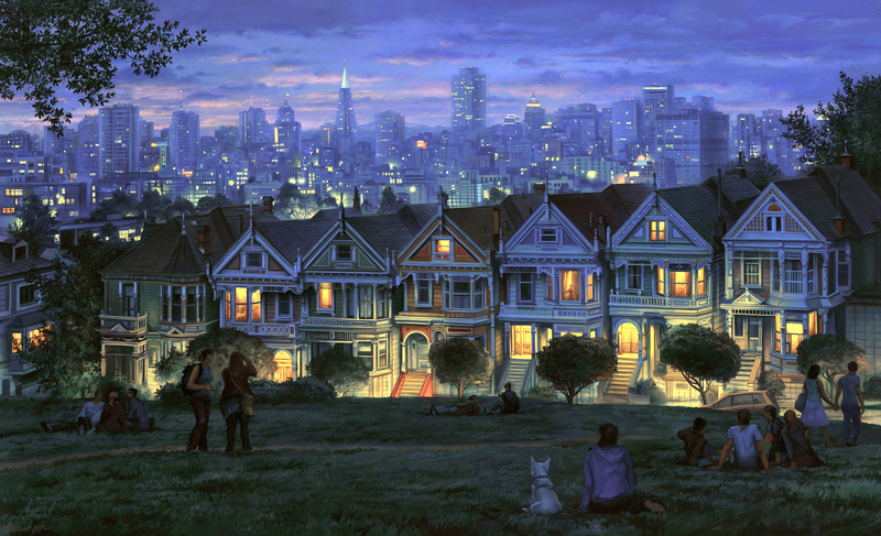 EVGENY LUSHPIN ARTIST -Seven Sisters 26 x 42