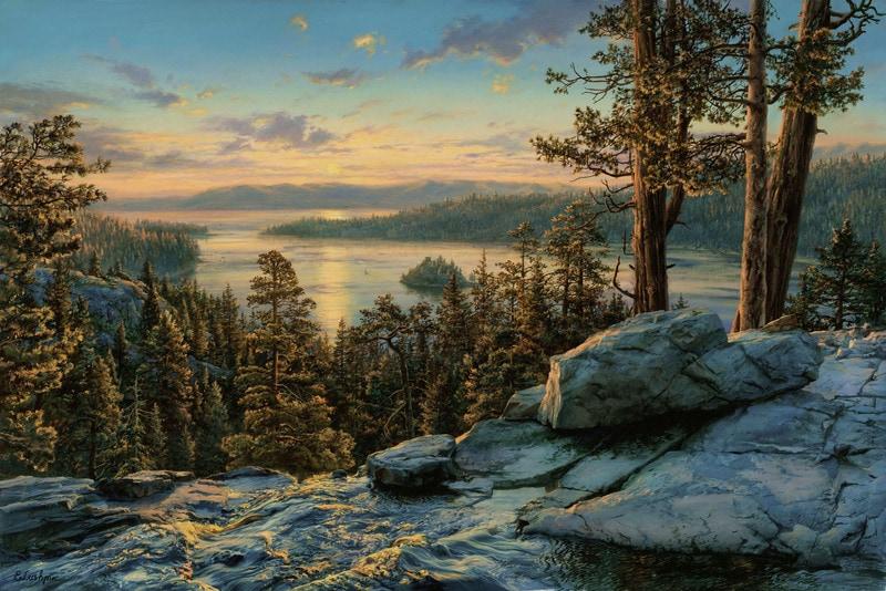 EVGENY LUSHPIN ARTIST - Tahoe Sunrise 48 x 32