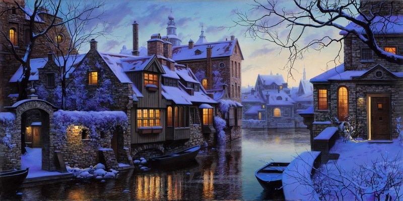 EVGENY LUSHPIN ARTIST - The Venice of the North 24 x 48