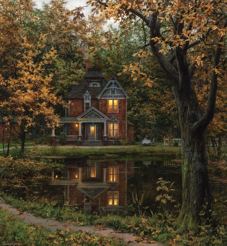EVGENY LUSHPIN ARTIST - The Walk Home 24 x 26