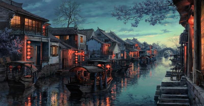 EVGENY LUSHPIN ARTIST - Xitang Melody 20 x 38