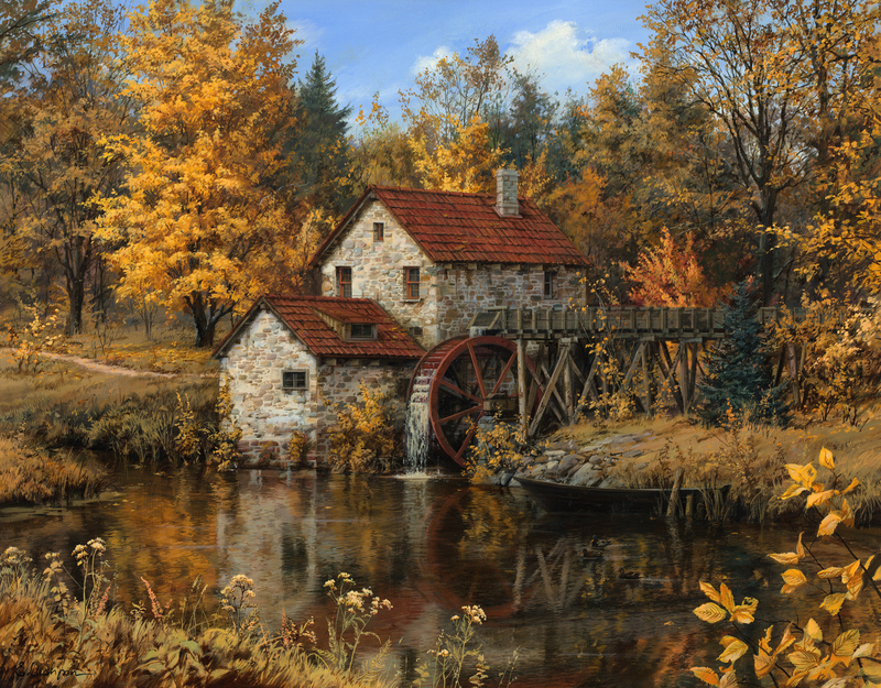 Evgeny Lushpin Original Watermill_22x28