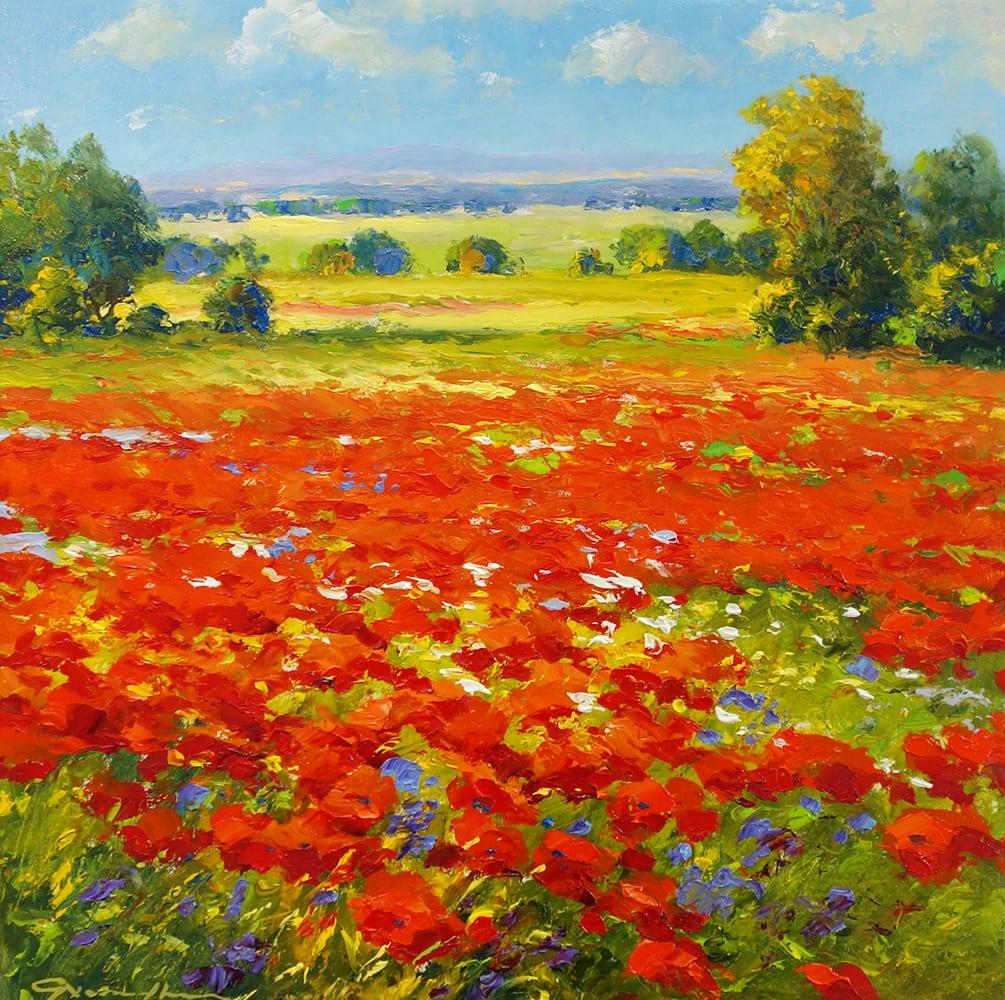 GERHARD NESVADBA - Poppies in a Purple Sky
