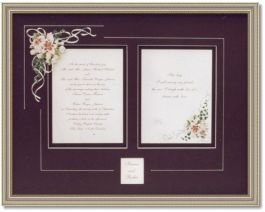 Wedding Invitation - (Hand Painted Floral Design on Mat)